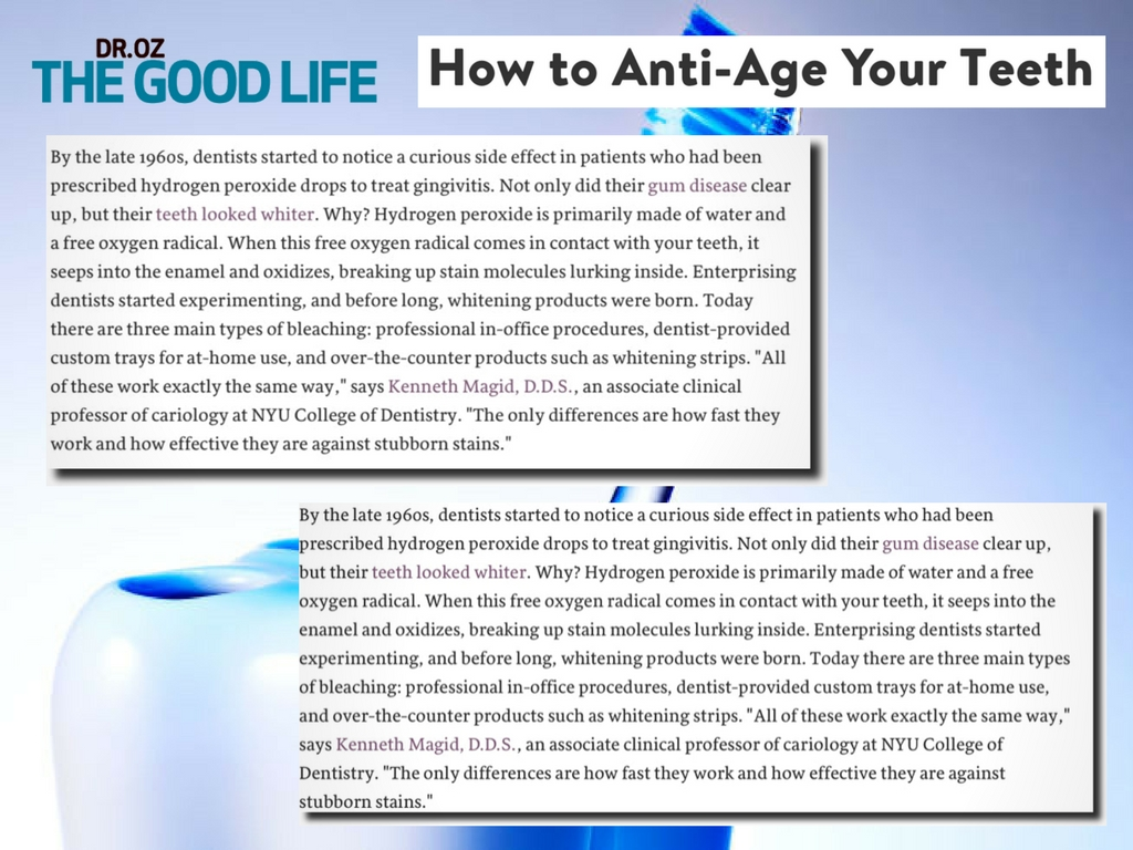 dr. oz magazine anti age teeth