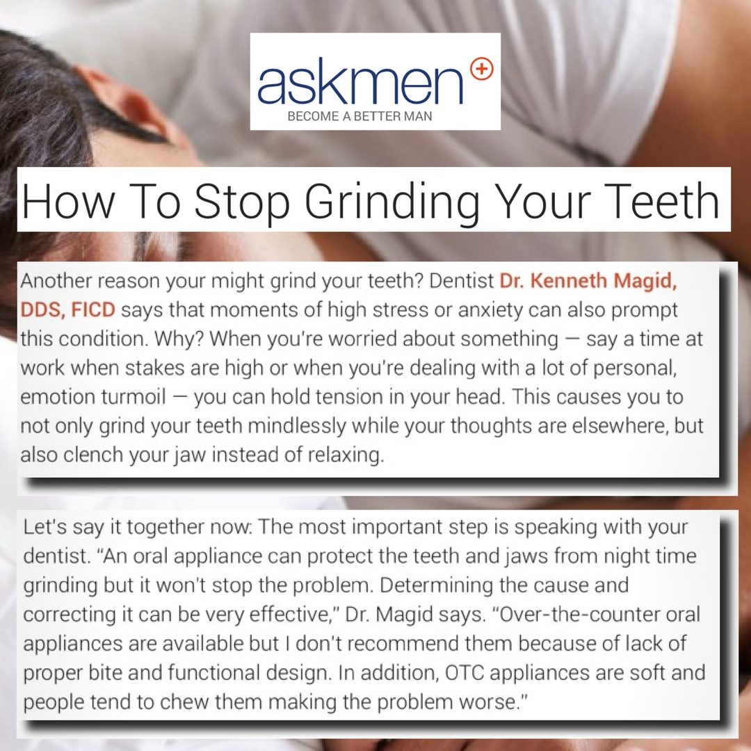 how to stop grinding your teeth