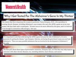 alzheimers testing womens health