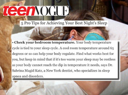 teen vogue sleep tips dr. magid Katz