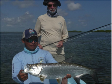 Clarence Hein with Tarpon