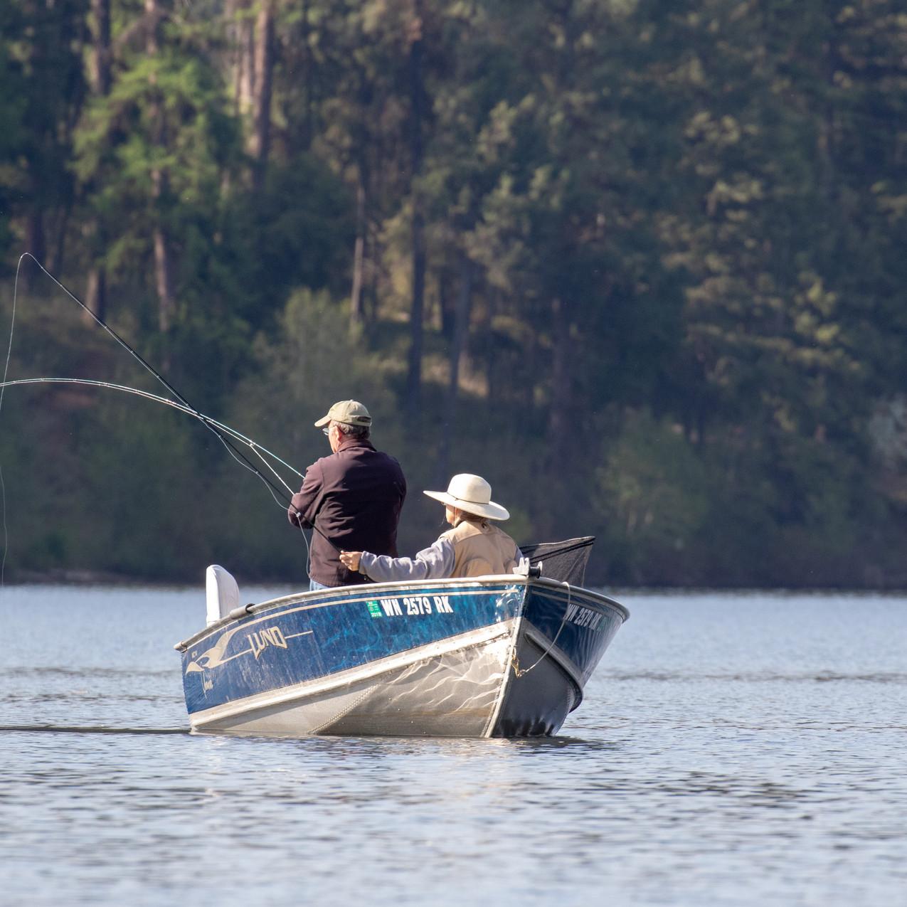Bob Rohrer with Fish On