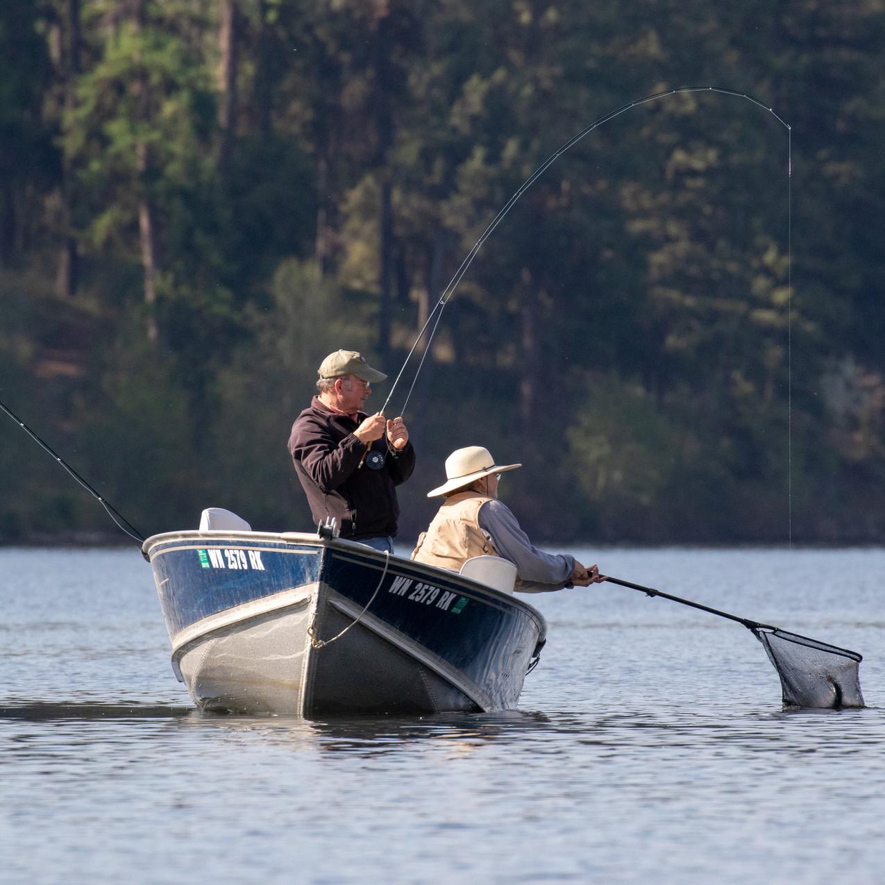 Karen Lindeman-Rohrer Nets Bob Rohrer's Fish