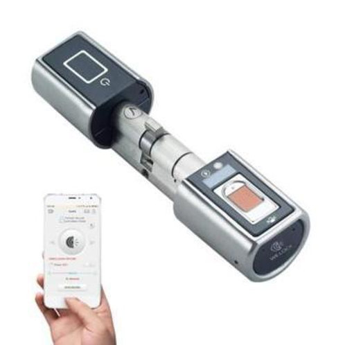 Cilindro Eletrônico T3 p/ Fechadura com Biometria,Controle Remoto e App BT