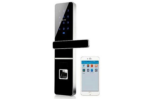 Fechadura Eletrônica Black Biometria,Senha,Cartão,Controle de Acesso Security