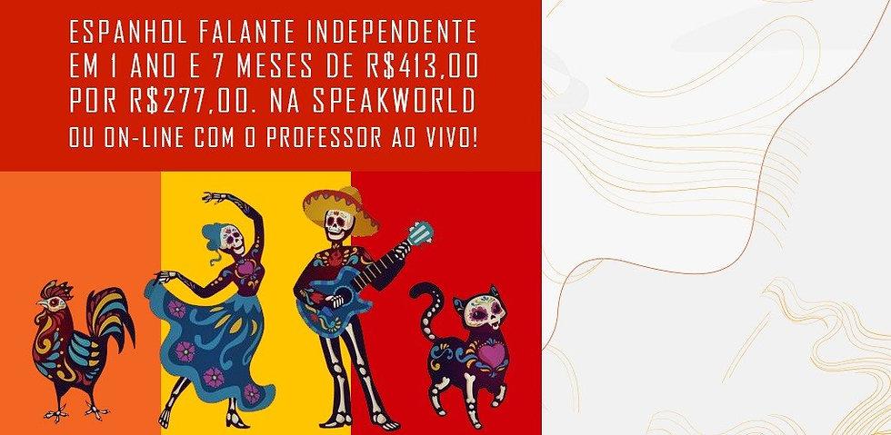 Promoção curso de espanhol ao vivo onlin