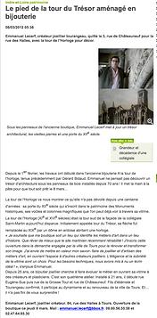 Article de presse bijouterie tours lecerf