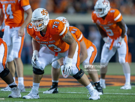 Daniel Jeremiah has the Steelers selecting Oklahoma State OT Teven Jenkins in his first mock draft