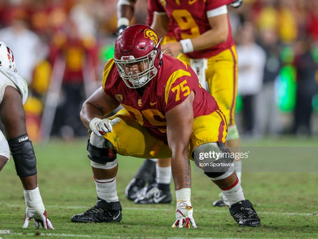 NFL.com has the Steelers picking USC OL Alijah Vera-Tucker at 24th overall in four-round mock draft