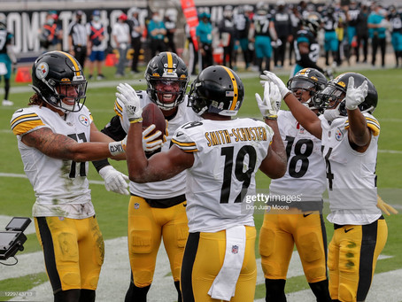 Pro Football Focus ranks the Steelers' receiving corps 18th in the NFL