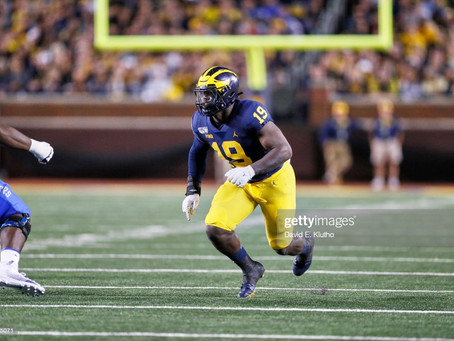 Michigan's Kwity Paye and Cameron McGrone both met with the Steelers prior to their pro day