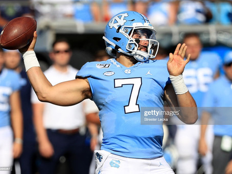 Kevin Colbert was at UNC's practice today to presumably get a close look at QB Sam Howell