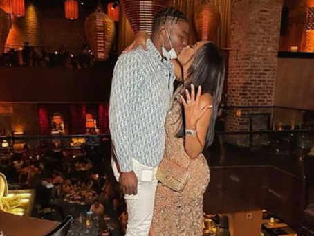 Dwayne Haskins got engaged to his girlfriend Kalabrya Gondrezick