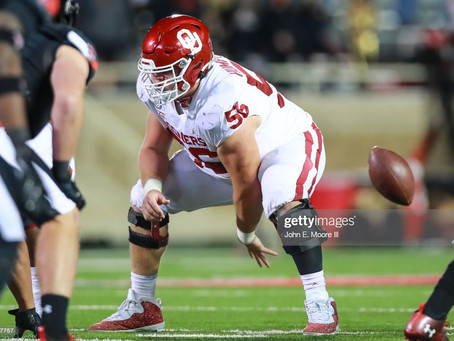 Former Jets GM Mike Tannenbaum has the Steelers selecting Oklahoma C Creed Humphrey at 24th overall