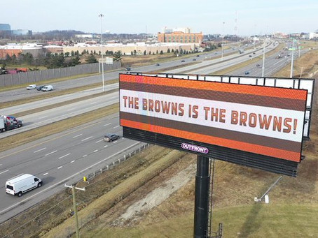 Several 'The Browns is the Browns!' billboards are in Ohio