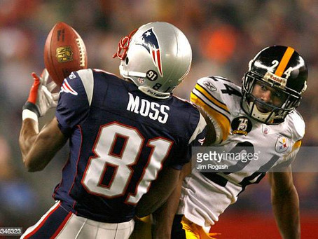 Ike Taylor said he almost tore his hamstring off the bone trying to keep up with Randy Moss