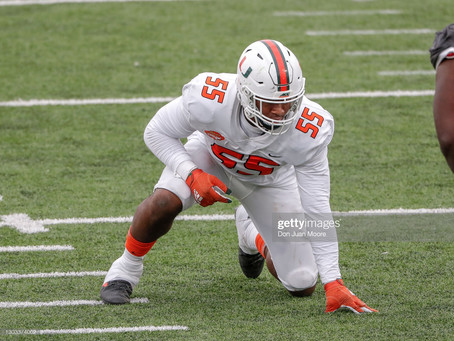 Quincy Roche says he's 'comfortable' transitioning to outside linebacker from defensive end