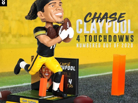 FOCO releases a limited-edition Chase Claypool bobblehead