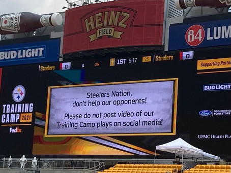 Steelers are asking fans to not post videos of their training camp plays on social media