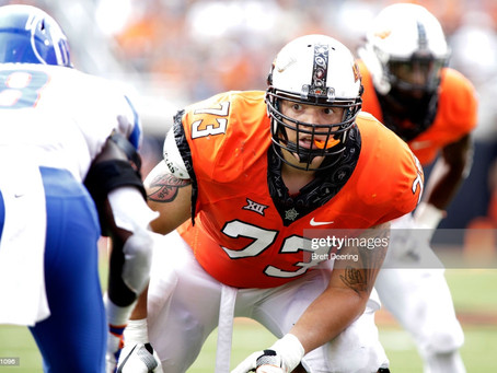 Daniel Jeremiah has the Steelers selecting Oklahoma State OT Teven Jenkins in the first round