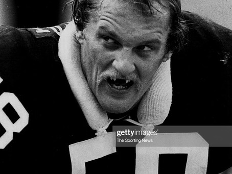 Jack Lambert is auctioning off his teeth holder, among 22 other items