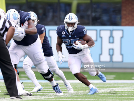 Pro Football Focus has Javonte Williams ranked as their No. 1 RB in the draft
