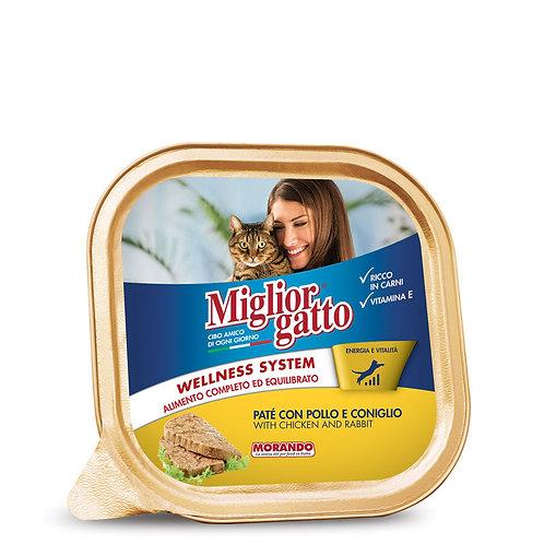 PATÈ CON POLLO E CONIGLIO MIGLIOR GATTO 100G