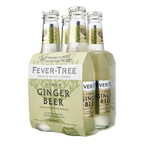 ginger beer fever-tree 200ml x 4