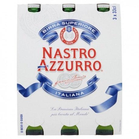 BIRRA NASTRO AZZURRO 3x33CL
