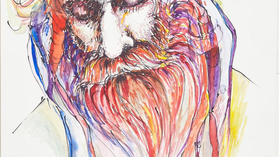 Portrait of a star, 30cm X 40cm, Watercolours
