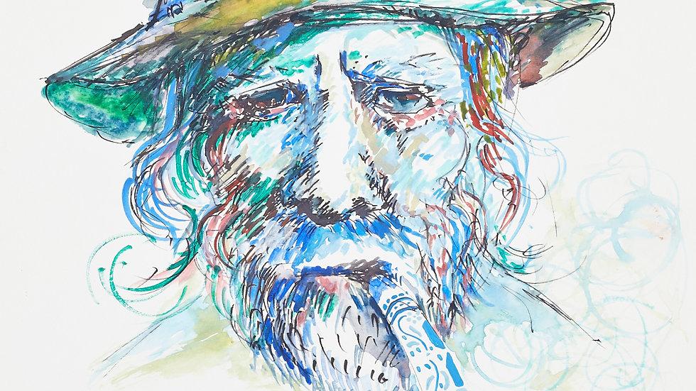 Sailor Portrait - blues, 30cm X 40cm, Watercolours