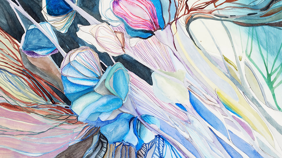 Landscape - into the wild 50cm X 70cm watercolours