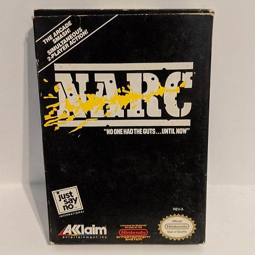 NARC NES Game Cart w/ Extras by Akklaim (works)