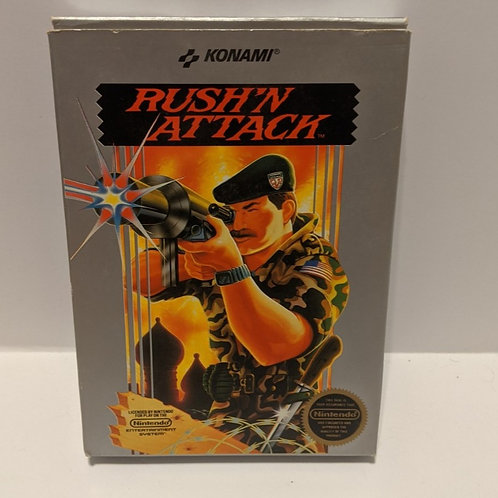 Konami Rush'n Attack NES Cart w/ Extras (Works Great!)