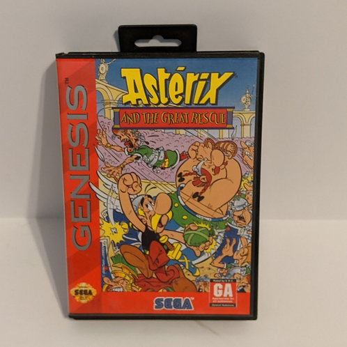 Asterix and the Great Rescue Sega Genesis Game Cart & Case by SEGA (Works)