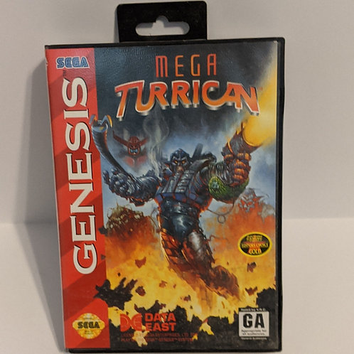 Mega Turrican Sega Genesis Game Cart by Data East w/ Extras (works)