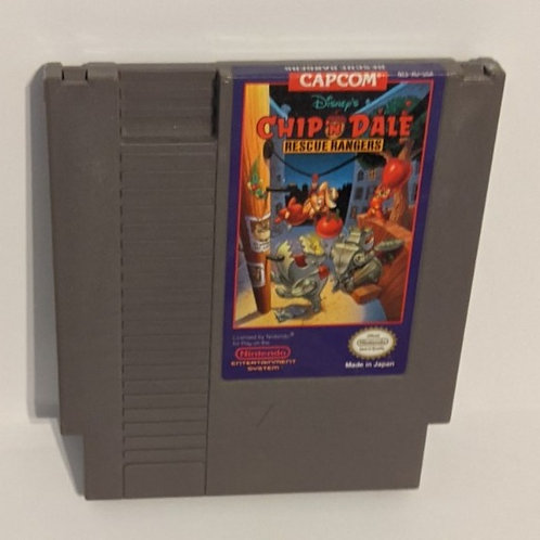 Chip & Dale Rescue Rangers NES Cart by Capcom (works)
