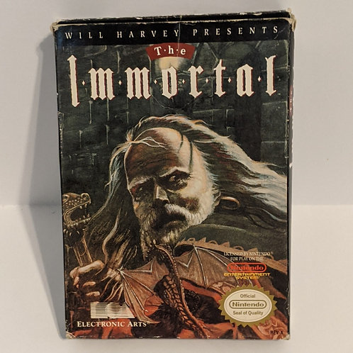 The Immortal NES Game Cart w/ Extras by Electronic Arts (works)