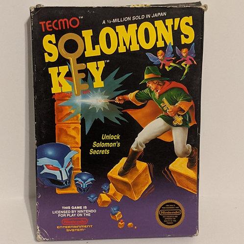 Soloman's Key NES Box, Styrofoam, and Cart by Tecmo (Works Great!)