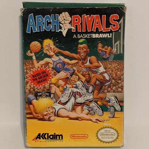 Arch Rivals NES Game Cart by Akklaim w/ Extras (works)