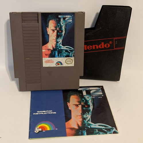 T2: Judgement Day NES Cart w/ Sleeve & Instruction Booklet by LJN (works)