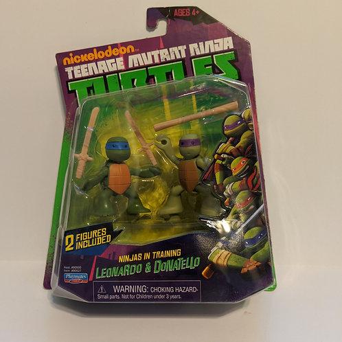 Nickelodeon's TMNT: Ninjas in Training Leonardo& Donatello by Playmates
