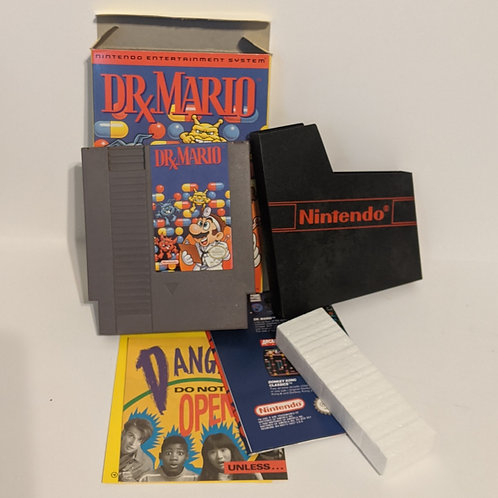 Dr. Mario NES Cart Complete w/ Box, Instructions, & Inserts (Works)