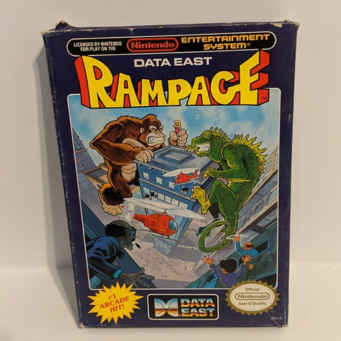 Rampage NES Cart w/ Box & Sleeve by Data East (Works)