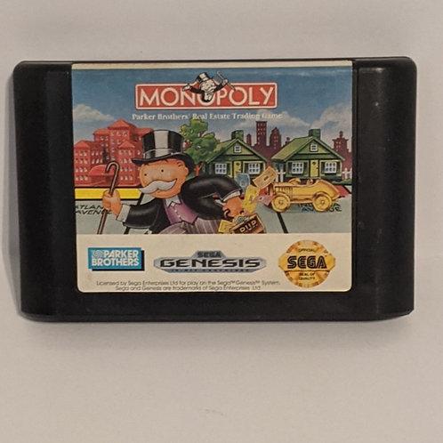 Monopoly Game Cart for Sega Genesis