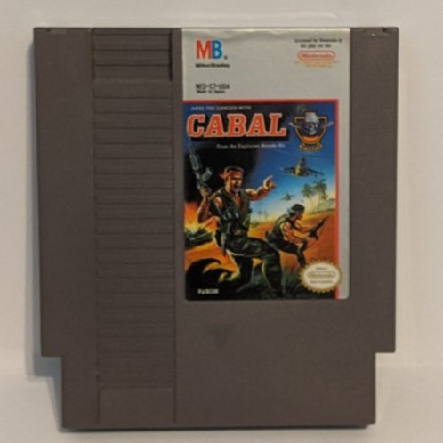 Cabal NES Game Cart by Milton Bradley (works)