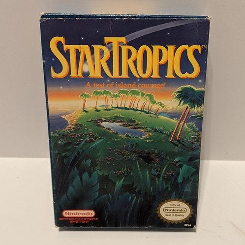 Startropics NES Box, Styrofoam, Cart, & Sleeve (Works Great!)