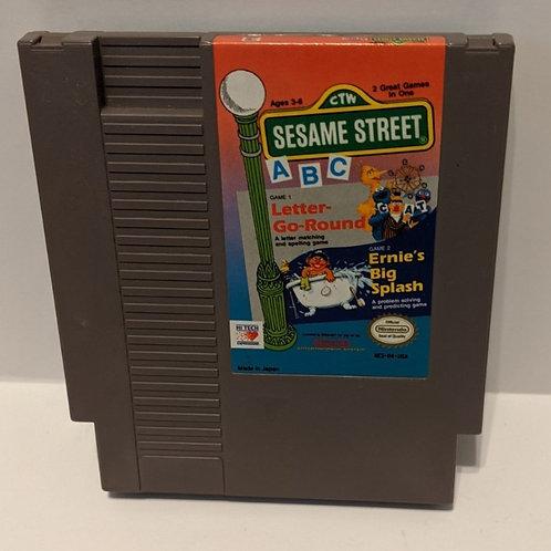 Sesame ABC Letter-Go-Round & Ernie's Big Splash NES Cart High Tech Expression