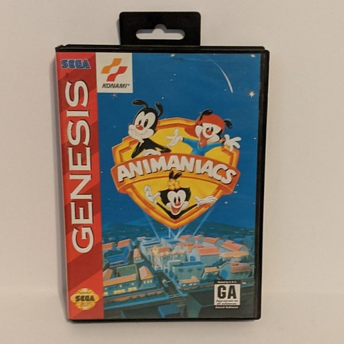 Animaniacs SEGA Genesis Game Cart w/ Extras by Konami (works)
