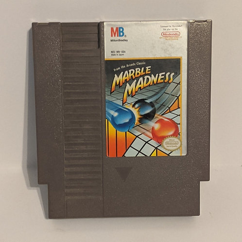 Marble Madness NES Cart by Milton Bradley